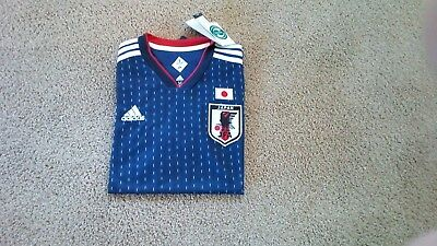 Japan 2018 World Cup Soccer Home Shirt ..Size XL ..New and Unworn .Free post