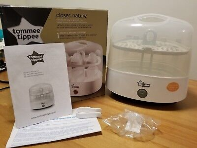 Tommee Tippee Closer to Nature Electric Steam Sterilizer - White Display Model