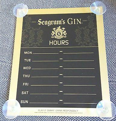 Seagram's Gin / Brand New Bar / Tavern / Man Cave Open / Closed Sign