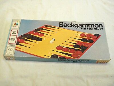 1973 Backgammon And Acey-Deucy Board Game John Sands