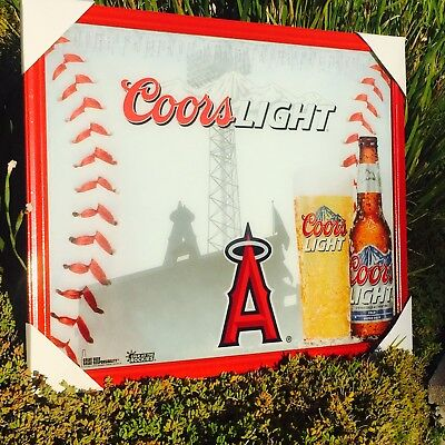 Coors light los angeles angels mlb major league baseball beer bar coors light los angeles angels mlb major league baseball beer bar mirror aloadofball Image collections