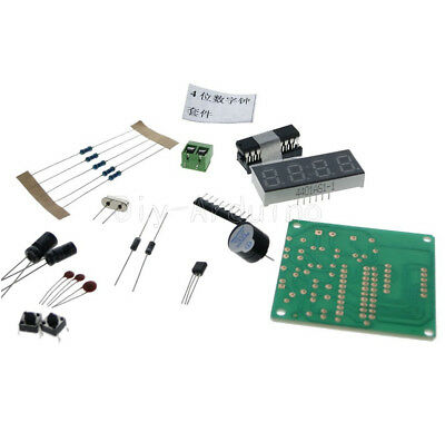4 Bits At89c2051 Digital Electronic Clock Electronic Production Suite Kit