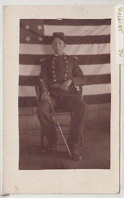 RPPC - U.S. Soldier in Uniform - Indian Wars period - early 1900s post card