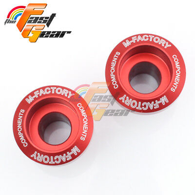 CNC Billet Red Racing Swingarm Spools Fit Yamaha YZF R6 1999-2015 10 11 12 13 14