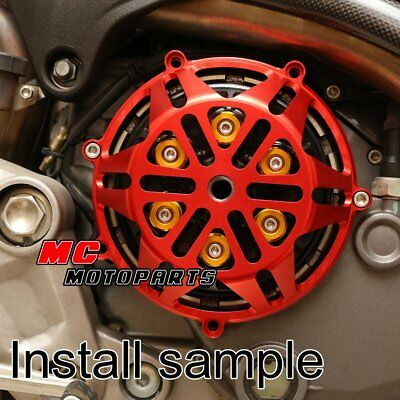 For Ducati Engine Billet Clutch Cover Red For Hypermotard 1100 M1100 M900 CC21