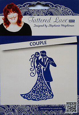 Tattered Lace COUPLE Die Man Lady Dancing Wedding Metal Cutting Die - D169