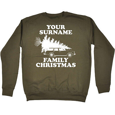 Family Name Personalised Merry Christmas Jumper Sweater