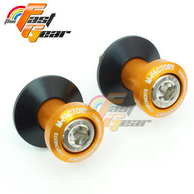 CNC Billet Gold Racing Swingarm Spools Fit Aprilia TUONO 1000 / R 2003-2009