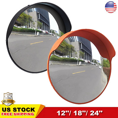 "12'' 18"" 24"" Outdoor Road Traffic Convex Mirror PC Wide Angle Driveway Safety US"