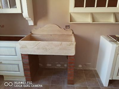 LAVELLO LAVABO LAVANDINO CUCINA IN PIETRA 90x60x20 no fragranite no ...