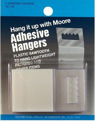 Moore Adhesive Sawtooth Hanger 4 Pack