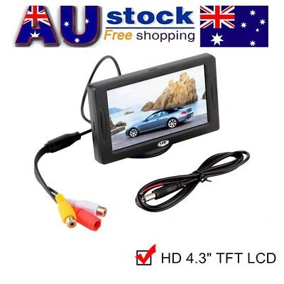 "4.3"" TFT LCD Monitor Car Rear View System Backup Reverse Bullet Style Camera AU"