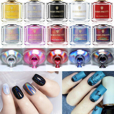 BORN PRETTY Nail Stamping Polish Holographic Thermal Chameleon Dual-use Varnish