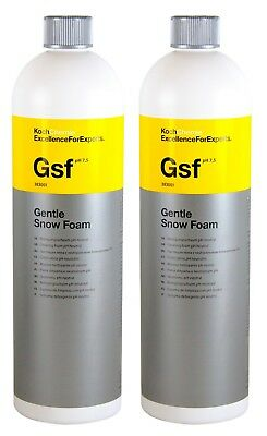 2x KOCH CHEMIE Gsf Gentle Snow Foam Reinigungsschaum pH-neutral 1 L Liter