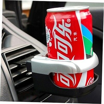 Auto Car Air Vent Bottle Can Coffee Drinking Cup Holder Bracket Mount Tray silve