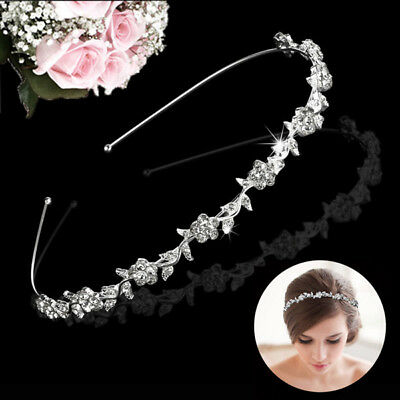 Crystal Rhinestone Wedding Bridal Diamante Crown Tiara Headband Hair Band Clasp
