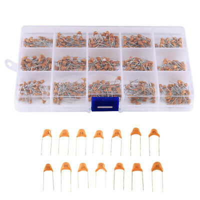 450pcs 10Value 50V 10pF~100nF Ceramic Capacitors Assortment Assorted Kit +Box