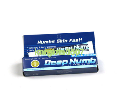 New 2pcs 10g DEEP NUMB Numbing Cream Anesthetic Tattoo Piercing Waxing Laser