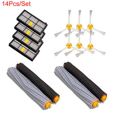 14Pcs/Set Filters+Brushes Replacement for iRobot Roomba 800/860/870/880/960/980
