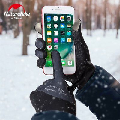 Windproof Touch Screen Full Finger Gloves Fleece Outdoor Sports Gloves B4U