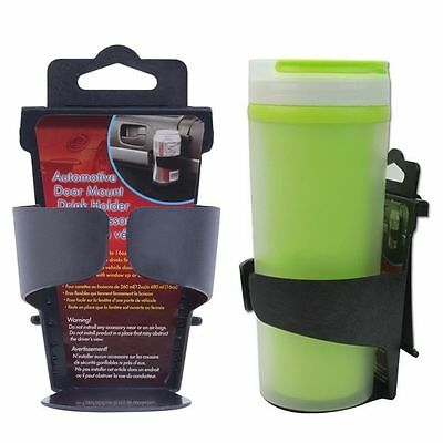 Black Universal Vehicle Car Truck Door Mount Drink Bottle Cup Holder Stand NC