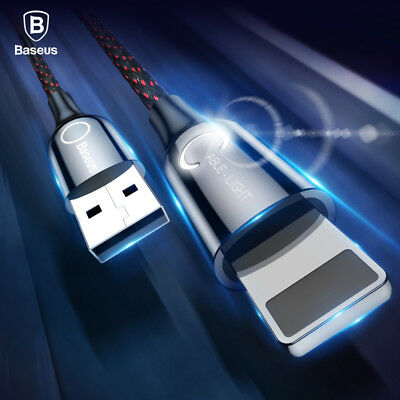 LED Lightning USB Fast Charging Cable Data Sync For iPhone XS Max XR 8 7 6s Plus