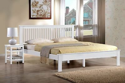 """Windsor White Finished Low Foot End Bed Frame. Sizes 4ft, 4ft 6"""" and 5ft"""