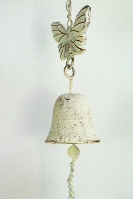 Garden Bell Wind chime Vintage style Metal Hanging Chime with Butterfly detail