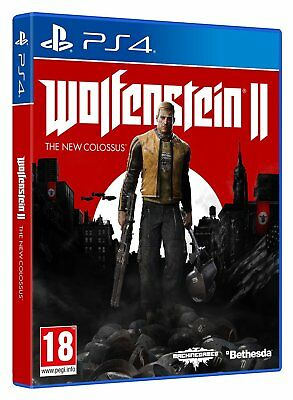 Wolfenstein II: The New Colossus PS4 NEW SEALED DISPATCHING TODAY ALL BY 2 P. M.