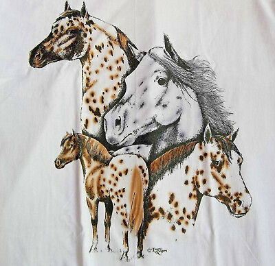 "Horse Lovers T-shirt  # 3 "" Ash "" Large ( 42 ~ 44 )"