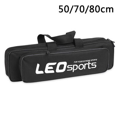 Portable Rod Pouch Fishing Gear Bag Easy Carrying Durable Black Multifunctional