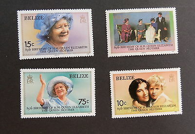 Belize 1985 Queen Mother's 85th Birthday SG827/30 MNH UM unmounted mint