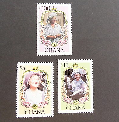 Ghana 1985 Queen Mother 85th Birthday set UM MNH unmounted mint never hinged