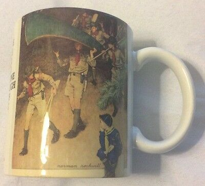 "Boy Scouts Of America 9oz Coffee Mug Norman Rockwell ""Men Of Tomorrow"""