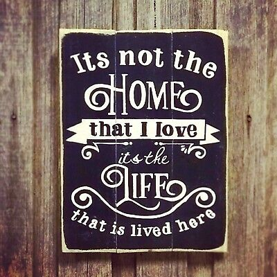 ITS NOT THE HOME W30CM X H40CM - Rustic Vintage Style Recycled Timber