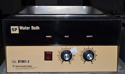American Scientific Products SP Water Bath Model B7001-3 *Used, Power On Tested*