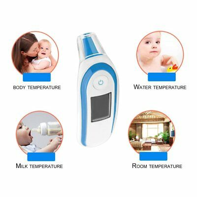 LCD Digital IR Thermometer Infrared Forehead Ear Temperature Meter Baby Adult BS