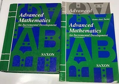 Saxon math algebra 1 homeschool kit with solutions manual 4th saxon advanced mathematics second edition textbook homeschool packet tests fandeluxe Gallery