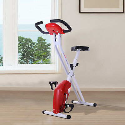 Soozier Upright Stationary Bike Foldable Exercise Bike Cardio Workout