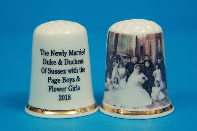 Prince Harry & Meghan Wedding Photo With Page Boys & Flower Girls Thimble B/169