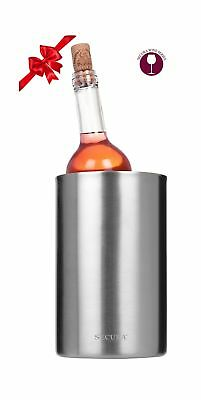 Secura Wine Cooler Bucket | 18/8 Stainless Steel Wine Bottle Chiller Champagn...