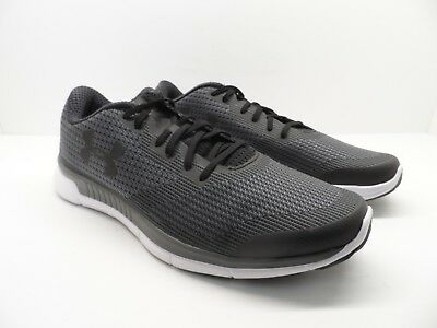 cheap for discount 0faf2 82c60 UNDER ARMOUR MEN'S Charged Lightning Running Shoe Black White Size 12M