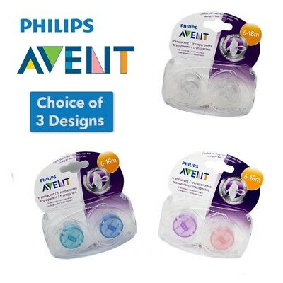 Philips Avent Translucent Soothers 6-18m - CHOICE OF DESIGN BOY/BIRL (A56)