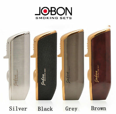 JOBON Triple Jet Flame Torch Cigarette Cigar Windproof Lighter in Gift Box