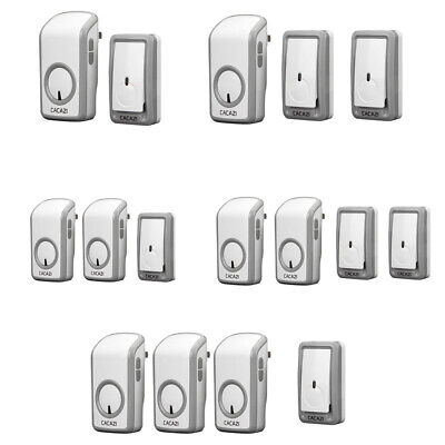 Battery Operated Wireless Doorbell Push Door Chime, 48 Melodies & 6 Volumes