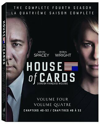 HOUSE OF CARDS: SEASON 4 BLU RAY Brand NEW & Sealed- Fast Ship
