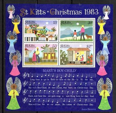 St Kitts Nevis 1983 Christmas Mini Sheet watermark inverted Sg MS138a  cat £75