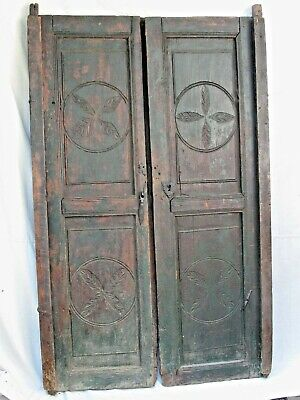 Antique Spanish Colonial Paneled Doors with Original Hardware 18th c.