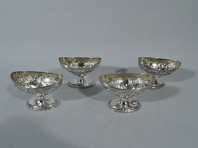 Georgian Open Salts - Set of 4 Antique Neoclassical - English Sterling Silver
