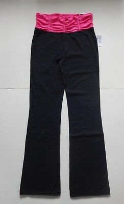 ae8757b4f9085 Aeropostale Live Love Dream LLD Bootcut Yoga Pants Black w Pink Waistband M  L XL